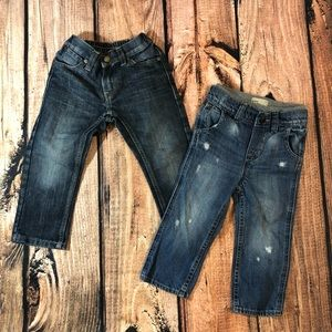 Two pair of toddler jeans